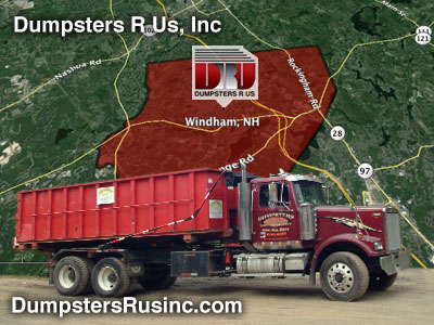 Dumpster rental in Windham, NH. Dumpsters R Us, Inc dumpster rentals