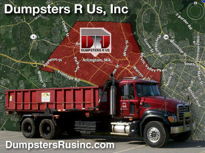 Dumpster rental in Arlington, MA. Dumpsters R Us, Inc dumpster rentals