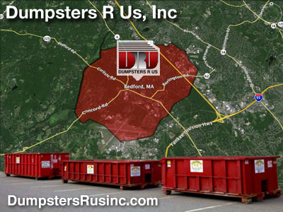 Dumpster rental MA. Bedford, MA Dumpster rentals by Dumpsters R Us, Inc.