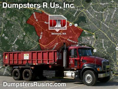 Dumpster rental in Belmont, MA. Dumpsters R Us, Inc dumpster rentals