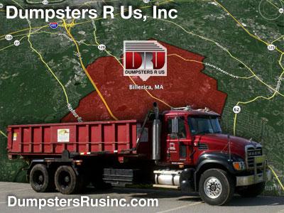 Dumpster rental in Billerica, MA. Dumpsters R Us, Inc dumpster rentals