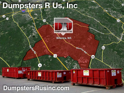 Dumpster rental MA. Billerica, MA Dumpster rentals by Dumpsters R Us, Inc.
