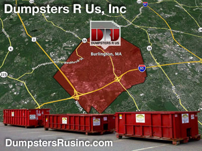Dumpster rental MA. Burlington, MA Dumpster rentals by Dumpsters R Us, Inc.