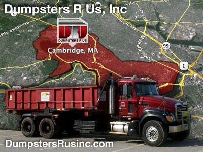 Dumpster rental in Cambridge, MA. Dumpsters R Us, Inc dumpster rentals
