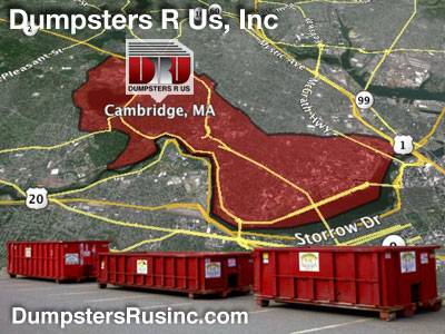 Dumpster rental MA. Cambridge, MA Dumpster rentals by Dumpsters R Us, Inc.