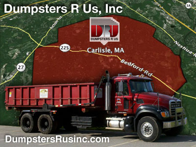 Dumpster rental in Carlisle, MA. Dumpsters R Us, Inc dumpster rentals