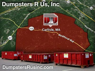 Dumpster rental MA. Carlisle, MA Dumpster rentals by Dumpsters R Us, Inc.
