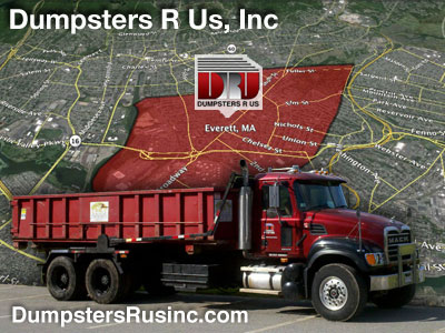 Dumpster rental in Everett, MA. Dumpsters R Us, Inc dumpster rentals