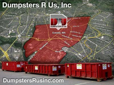 Dumpster rental MA. Everett, MA Dumpster rentals by Dumpsters R Us, Inc.