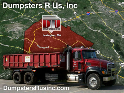 Dumpster rental in Lexington, MA 02420 and 02421. Dumpsters R Us, Inc dumpster rentals
