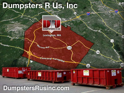 Dumpster rental MA. Lexington, MA Dumpster rentals by Dumpsters R Us, Inc.