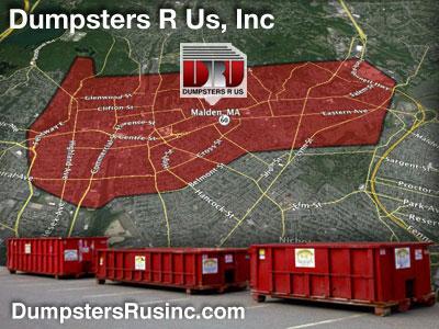 Dumpster rental MA. Malden, MA Dumpster rentals by Dumpsters R Us, Inc.
