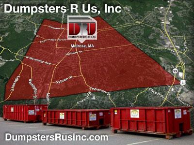 Dumpster rental MA. Melrose, MA Dumpster rentals by Dumpsters R Us, Inc.