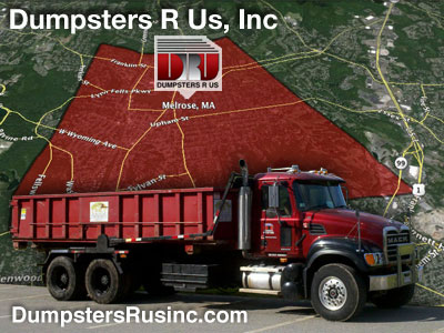 Dumpster rental in Melrose, MA. Dumpsters R Us, Inc dumpster rentals