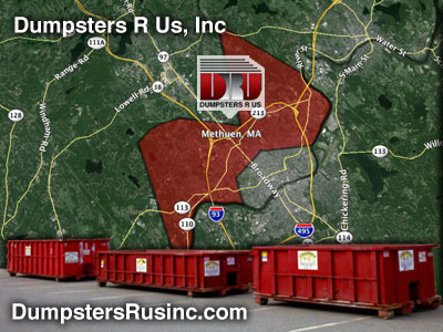 Dumpster rental MA. methuen, MA Dumpster rentals by Dumpsters R Us, Inc.