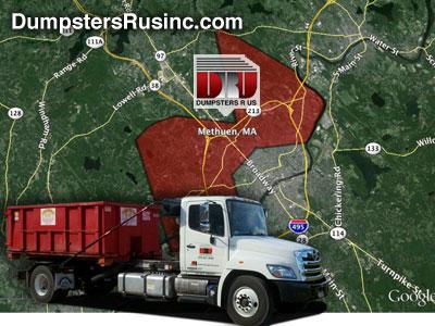 Dumpster rental in methuen, MA. Dumpsters R Us, Inc dumpster rentals