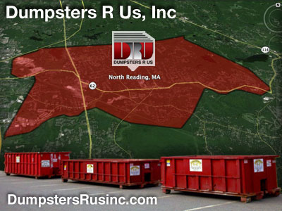Dumpster rental MA. North Reading, MA Dumpster rentals by Dumpsters R Us, Inc.