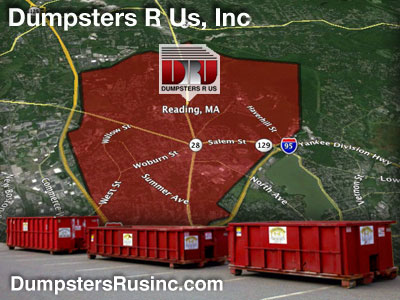 Dumpster rental MA. Reading, MA Dumpster rentals by Dumpsters R Us, Inc.