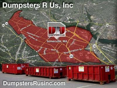 Dumpster rental MA. Somerville, MA Dumpster rentals by Dumpsters R Us, Inc.