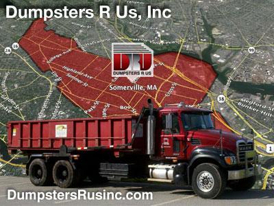 Dumpster rental in Somerville, MA. Dumpsters R Us, Inc dumpster rentals