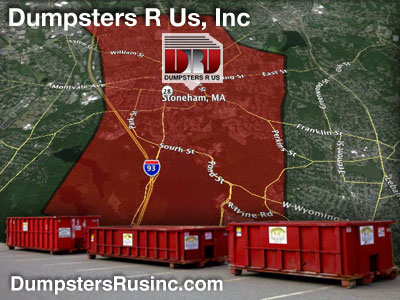 Dumpster rental MA. Stoneham, MA Dumpster rentals by Dumpsters R Us, Inc.