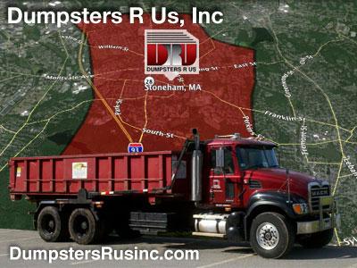 Dumpster rental in Stoneham, MA. Dumpsters R Us, Inc dumpster rentals