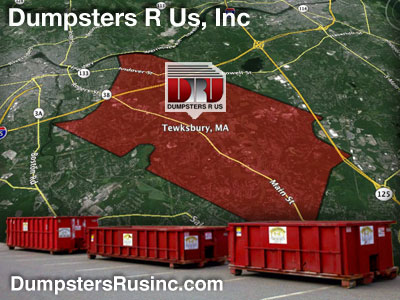 Dumpster rental MA. Tewksbury, MA Dumpster rentals by Dumpsters R Us, Inc.