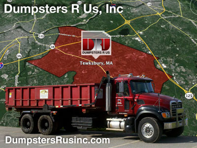 Dumpster rental in Tewksbury, MA. Dumpsters R Us, Inc dumpster rentals