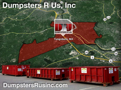 Dumpster rental MA. Tyngsboro, MA Dumpster rentals by Dumpsters R Us, Inc.
