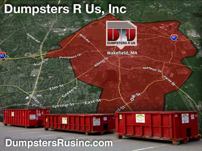 Dumpster rental MA. Wakefield, MA Dumpster rentals by Dumpsters R Us, Inc.