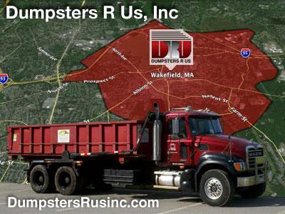 Dumpster rental in Wakefield, MA. Dumpsters R Us, Inc dumpster rentals