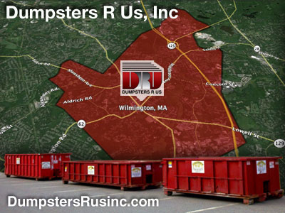 Dumpster rental MA. Wilmington, MA Dumpster rentals by Dumpsters R Us, Inc.