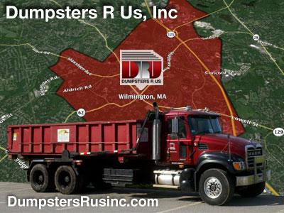 Dumpster rental in Wilmington, MA. Dumpsters R Us, Inc dumpster rentals