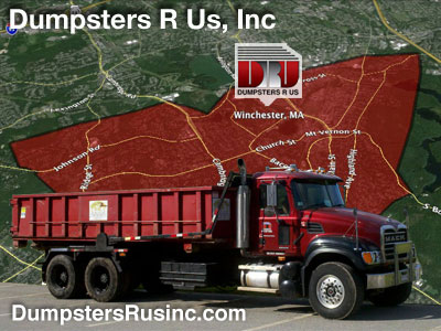 Dumpster rental in Winchester, MA. Dumpsters R Us, Inc dumpster rentals