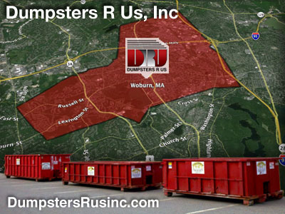 Dumpster rental MA. Woburn, MA Dumpster rentals by Dumpsters R Us, Inc.