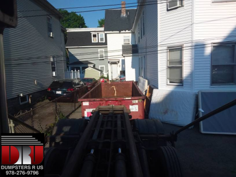 Delivery of a 20 yard dumpster rental in Lowell MA ...