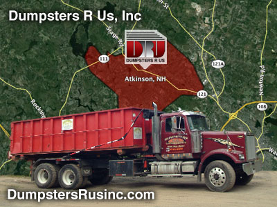 Dumpster rental in Atkinson, New Hampshire - rolloff containers from Dumpsters R Us, Inc.