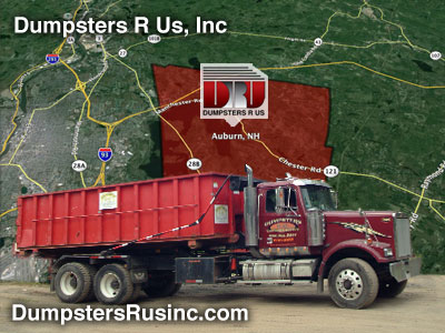 Auburn, NH dumpster rental provided by Dumpsters R Us, Inc.