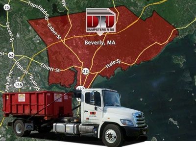 Dumpster Rental Beverly MA. Dumpsters R Us delivers dumpster rentals to Beverly business & residents