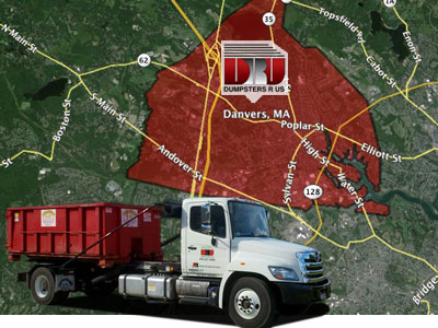 Dumpster Rental Danvers MA. Dumpsters R Us dumpster rentals delivered to residents and businesses