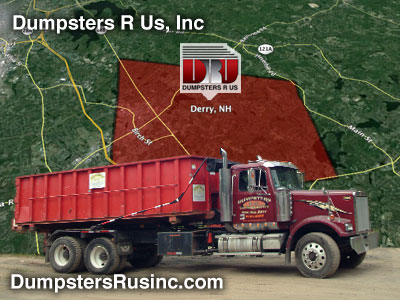 Dumpster rental in Derry, New Hampshire. Dumpsters R Us, Inc dumpster rentals.