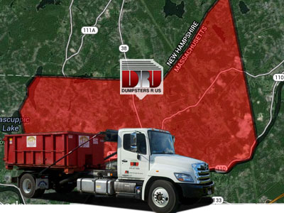 Dumpster Rental Dracut MA. Dumpsters R Us delivers dumpster rentals to residents and businesses