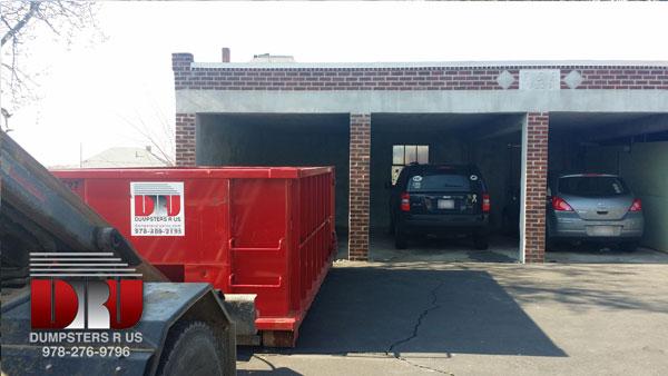 Dumpster rental in East Boston, MA.  Disposing of demolition debris