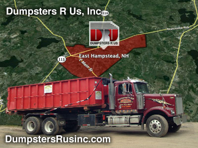 Dumpster Rental in East Hampstead, NH provided by Dumpsters R Us, Inc.