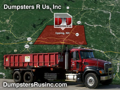 Dumpster rental in Epping, New Hampshire.