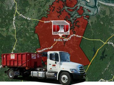Dumpster Rental Essex MA delivered by Dumpsters R Us.