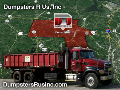 Dumpster Rental Exeter, New Hampshire provided by Dumpsters R Us, Inc.