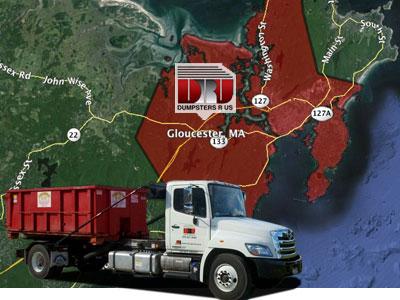 Dumpster Rental Gloucester MA delivered by Dumpsters R Us, Inc