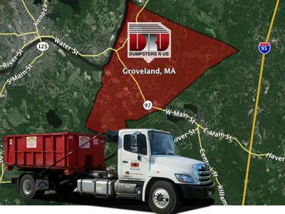 Dumpster Rental Groveland MA delivered by Dumpsters R Us, Inc
