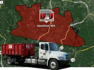 Dumpster Rental Hamilton MA delivered by Dumpsters R Us, Inc